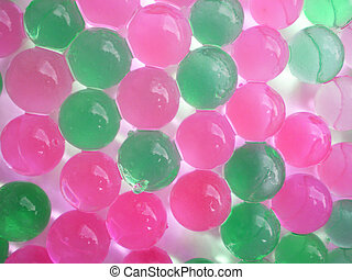 Background from green and pink balls