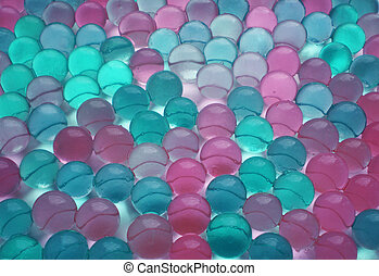Background from green, blue and pink balls.