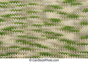 Background from knitted fabrics by woolly thread