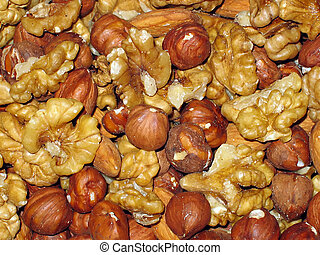 Background from nuts