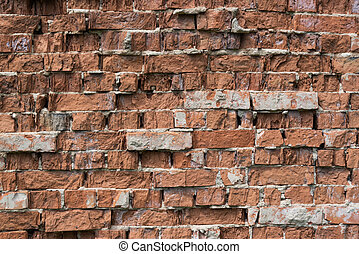 background from old brick wall close up