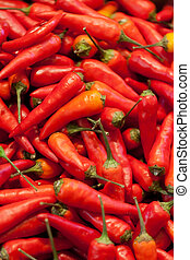 Background from red chili pepper