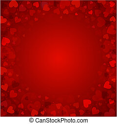Background from red hearts