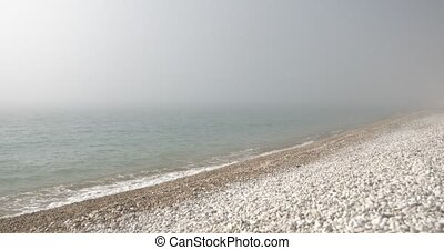 Background from sea surf in mist There is no horizon Static...