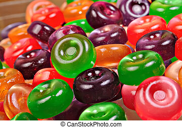 Background from set of colorful candies