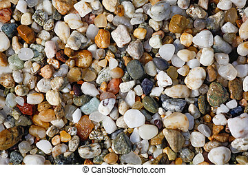 background from small sea pebbles