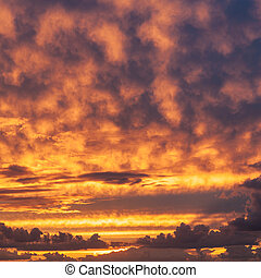 sky with clouds at sunset