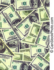Background from the American one hundreds dollars denominations