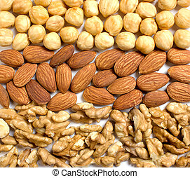 background from the nuts