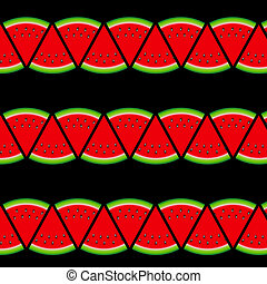 Background From Watermelon. Vector Illustration.
