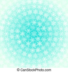 Background from White Snowflakes Arranged in Concentric...