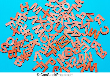 wooden letters. Concept of education, ideas