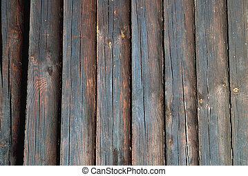 background from wooden natural logs of round brown color