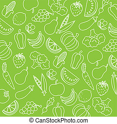 background fruits and vegetabl