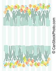 background gift from the male silhouette women