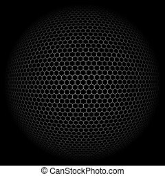 Background Globe with hexagon signs. Vector illustration