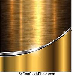 Background gold metal texture, illustration.