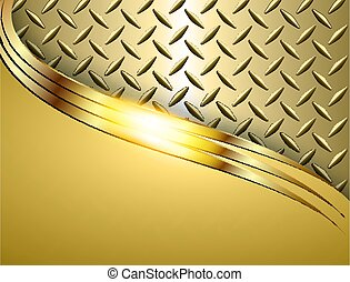 Background gold metallic, 3d shiny