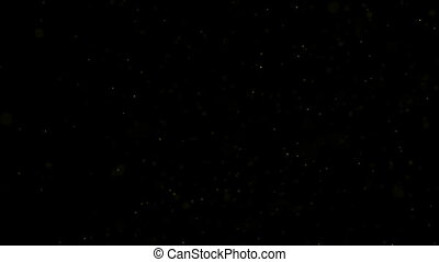 Background gold movement. Universe gold dust with stars on...
