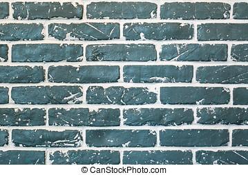 Background green bricks
