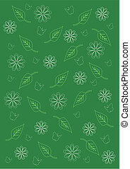 Background green floral