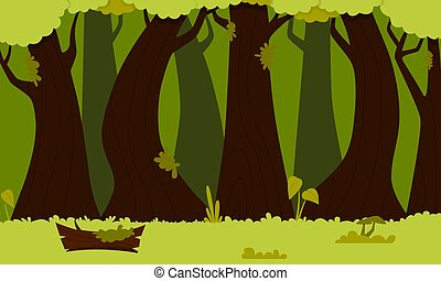Background green forest