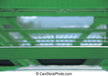green steel construction - Background, green steel...