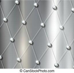 background grid with metal balls