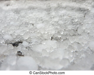 background hail grains - a thick layer of hail grains...