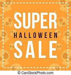 Background Halloween sale design collection