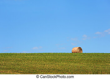 Background Hay Roll - Background image shows a single roll ...