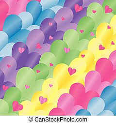 background hearts colored