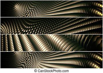 golden pattern - 4 divider