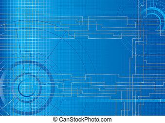 Background illustration blue