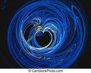 Fractal, valentine heart.
