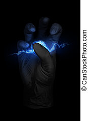 background illustration of a spark in the hand / abstract background illustration