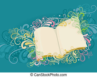 Open Book with Swirls