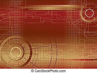 Background illustration red