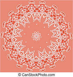 background illustration with pink, lilac lace
