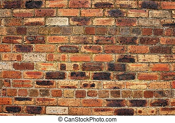 Background image of an old, weathered red-brick wall