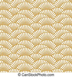 Background image of repeat scallop shape pattern background...
