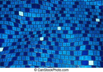 Background image of swimming pool tiles refracted by the water