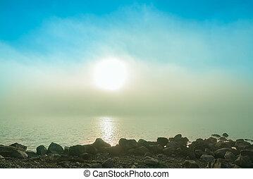 background image on a lake