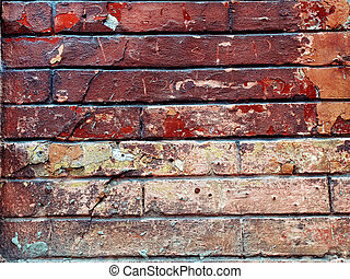 Background image with grunge brick old wall