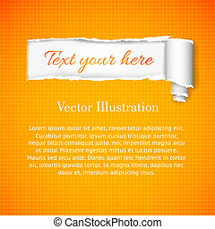 Torn paper with space for your message. Vector Illustration, eps10, contains transparencies