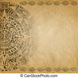 Mayan calendar - Background in American Indian Style with...