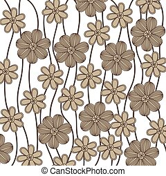 background in grayscale of creepers with flowers