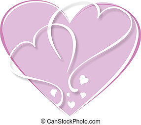 background in the shape of a heart