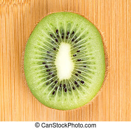 Background kiwi slice closeup