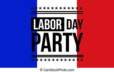 Background labor day party collection vector art